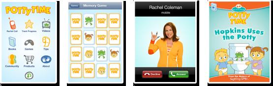 Potty Time App Screen Shots